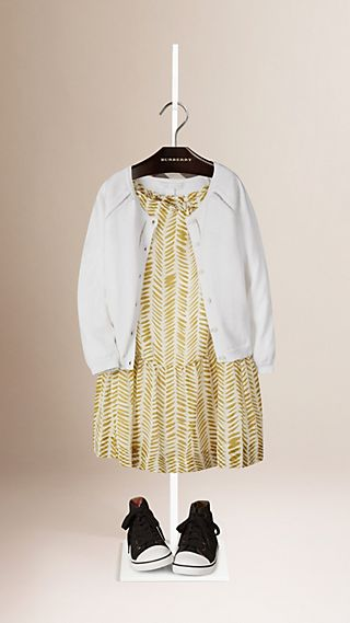 Cardigan en coton avec garnitures ajourées