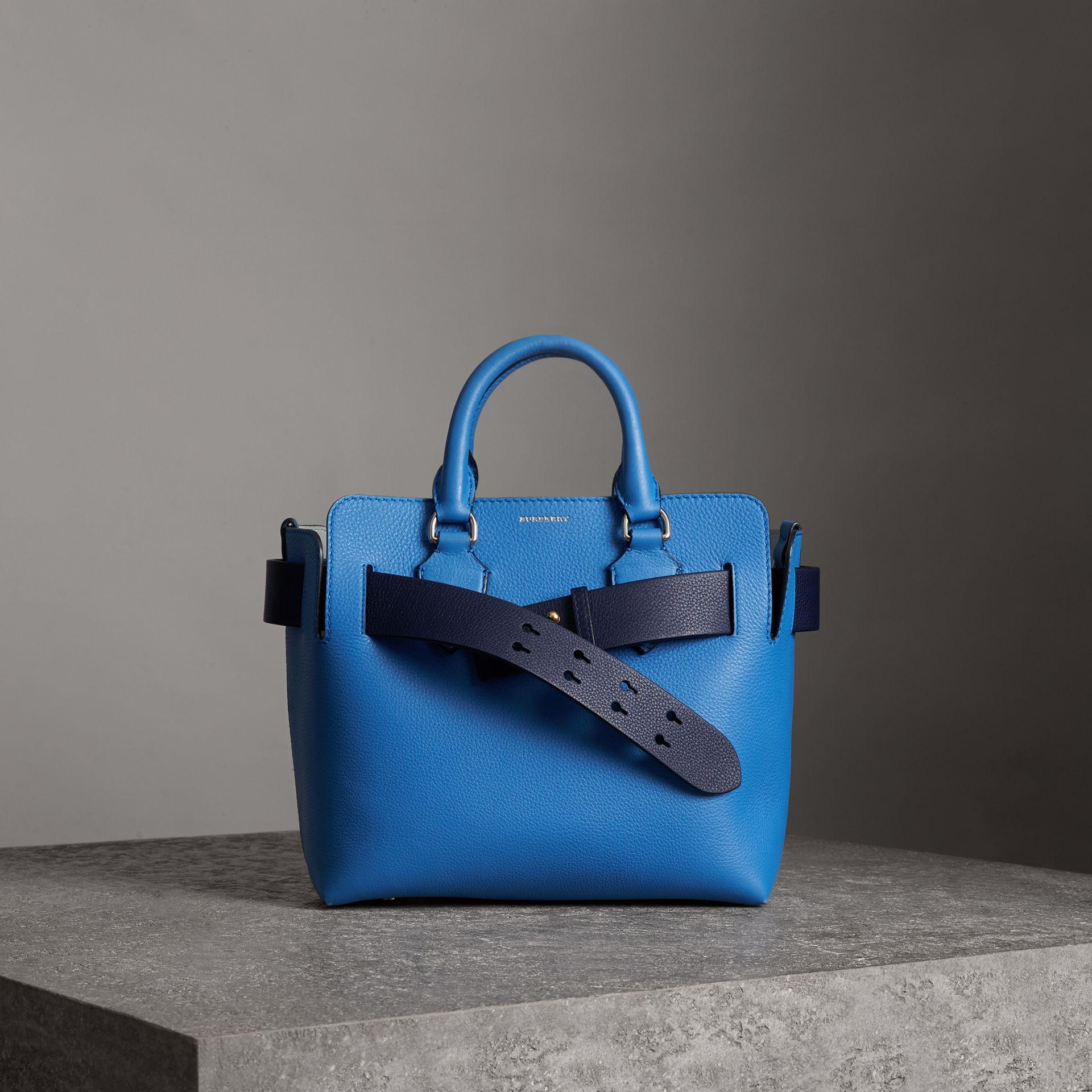 The Small Leather Belt Bag in Hydrangea Blue - Women | Burberry - gallery image 0