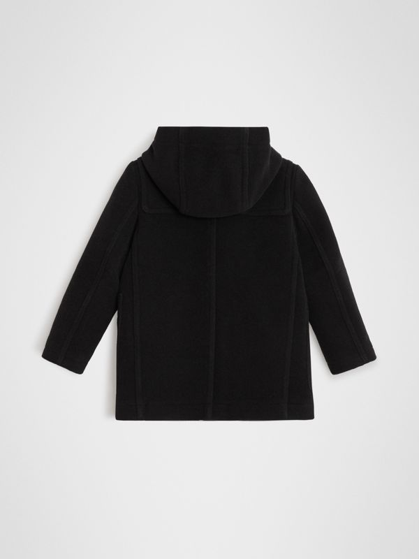 Double-faced Wool Duffle Coat in Black | Burberry Canada - cell image 3