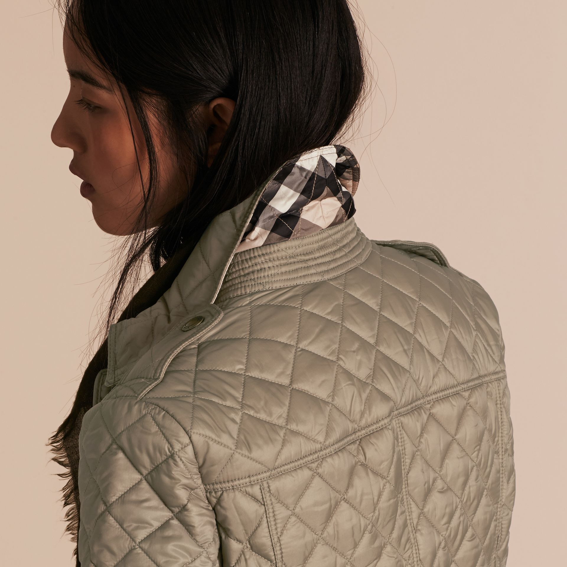 Pale fawn Diamond Quilted Jacket Pale Fawn - gallery image 5