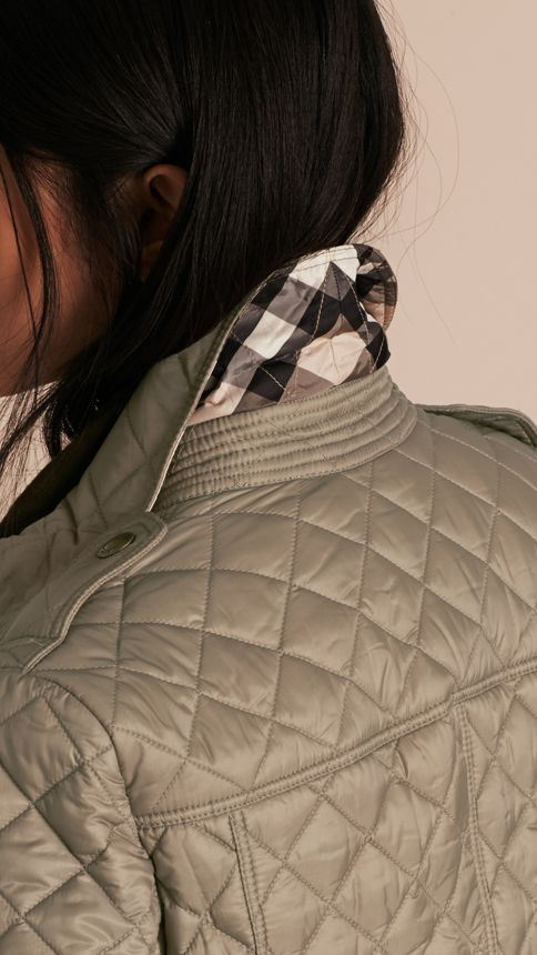 Pale fawn Diamond Quilted Jacket Pale Fawn - Image 5