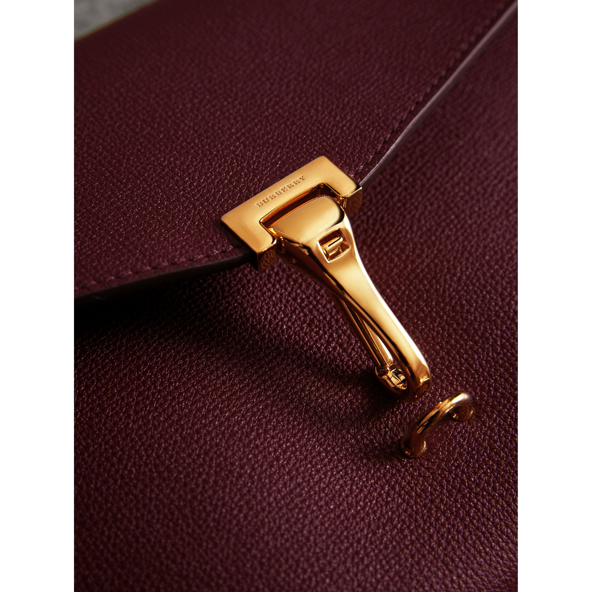 Small Leather Crossbody Bag in Mahogany Red - Women | Burberry United Kingdom - gallery image 1