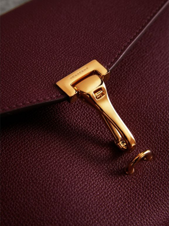 Small Leather Crossbody Bag in Mahogany Red - Women | Burberry - cell image 1