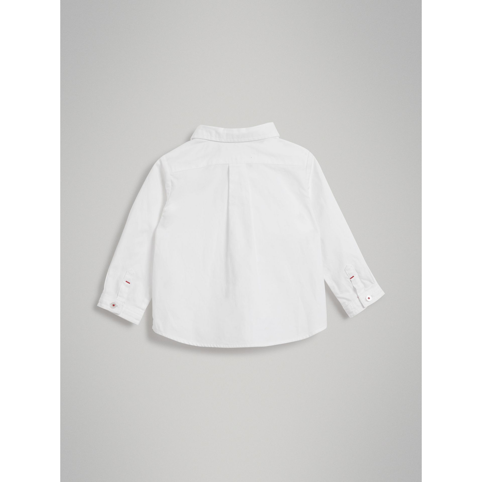 Cotton Oxford Shirt in White | Burberry Australia - gallery image 3