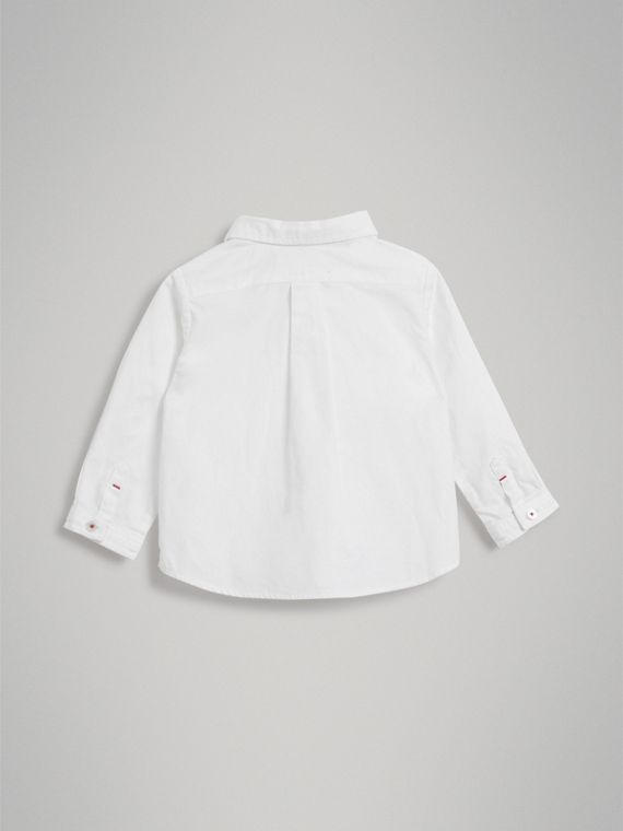 Cotton Oxford Shirt in White - Boy | Burberry Australia - cell image 3