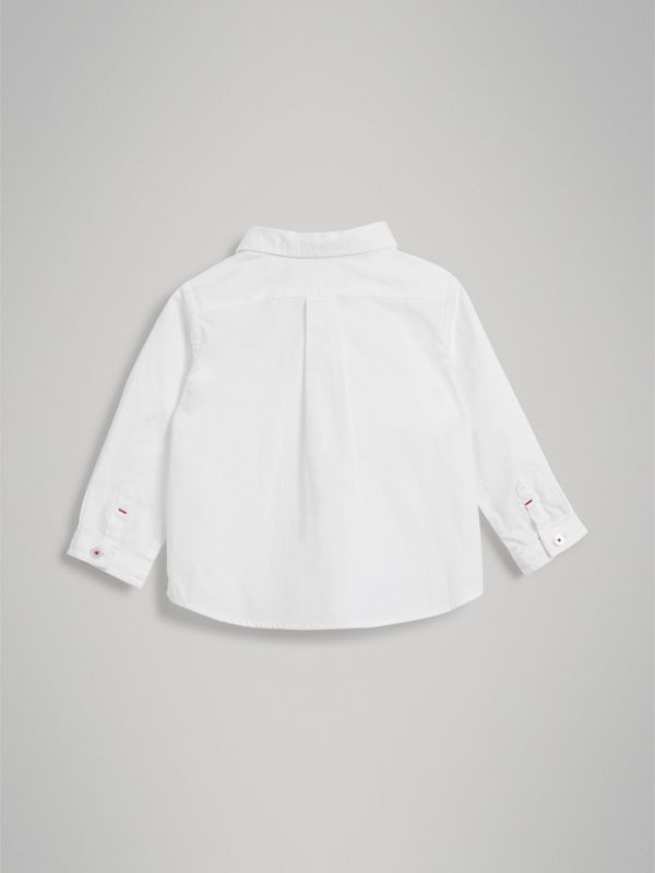 Cotton Oxford Shirt in White | Burberry Australia - cell image 3