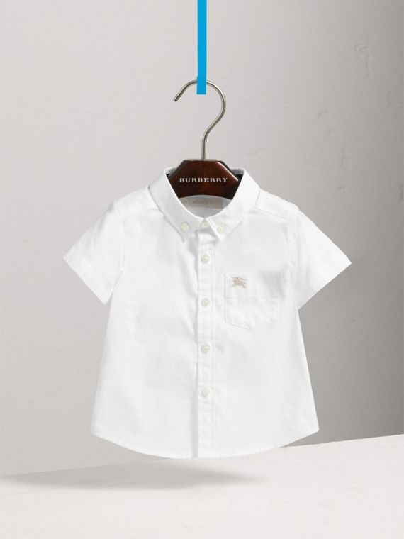 Cotton Oxford Shirt in White - Boy | Burberry Hong Kong - cell image 2