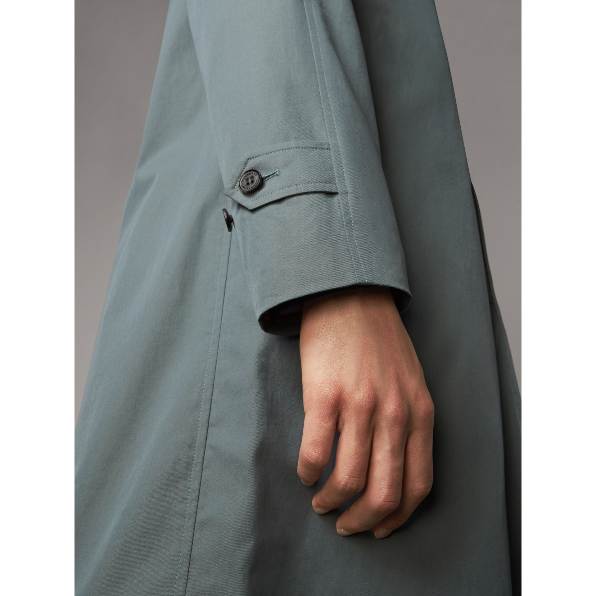 The Camden – Car Coat long (Bleu Cendré) - Homme | Burberry - photo de la galerie 5