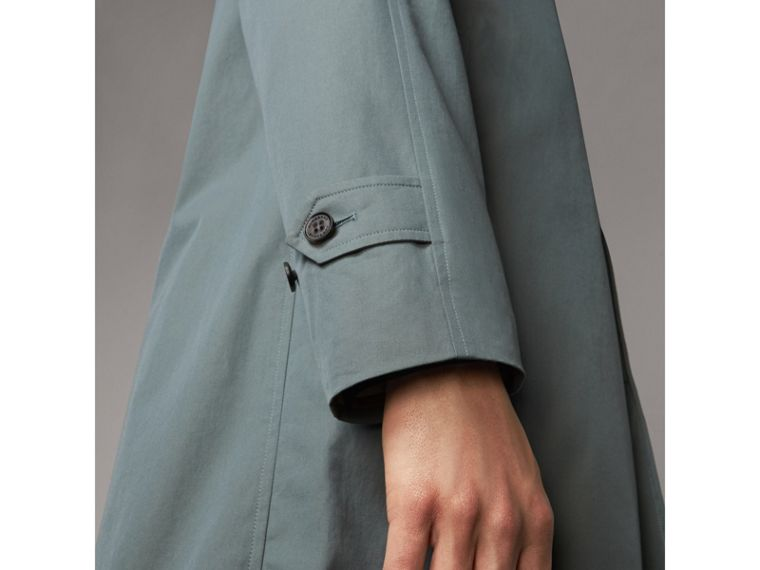 The Camden – Long Car Coat in Dusty Blue - Men | Burberry Australia - cell image 4