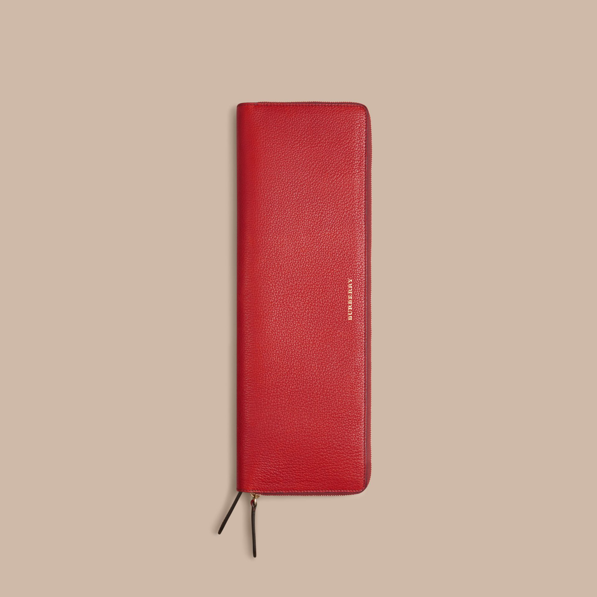 Parade red Grainy Leather Tie Case - gallery image 4