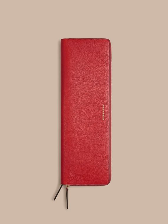 Grainy Leather Tie Case in Parade Red - Men | Burberry Australia - cell image 3