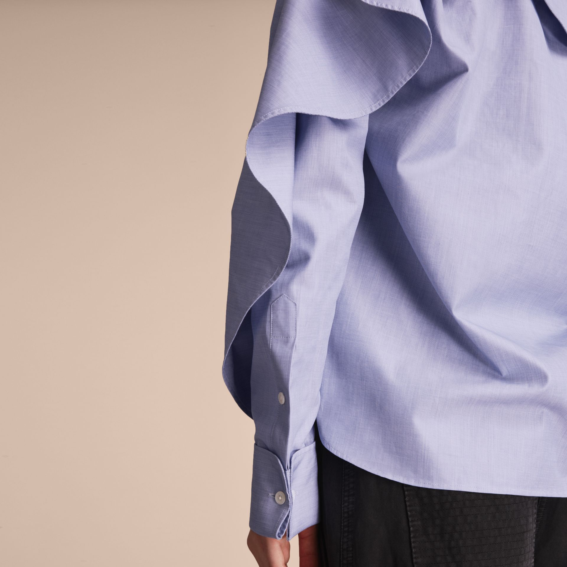 Ruffle Detail Cotton Shirt - gallery image 5