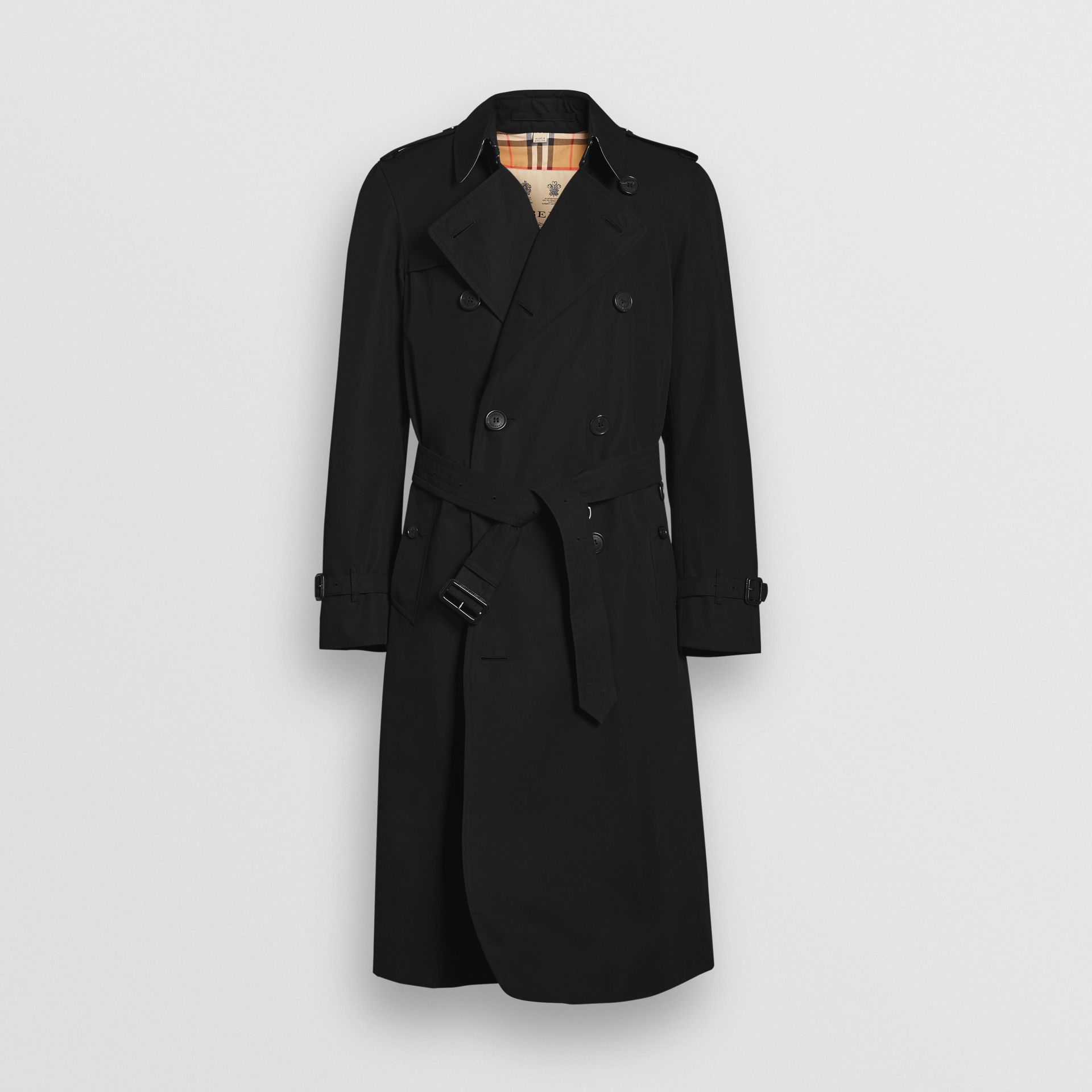 The Long Chelsea Heritage Trench Coat in Black - Men | Burberry Australia - gallery image 3