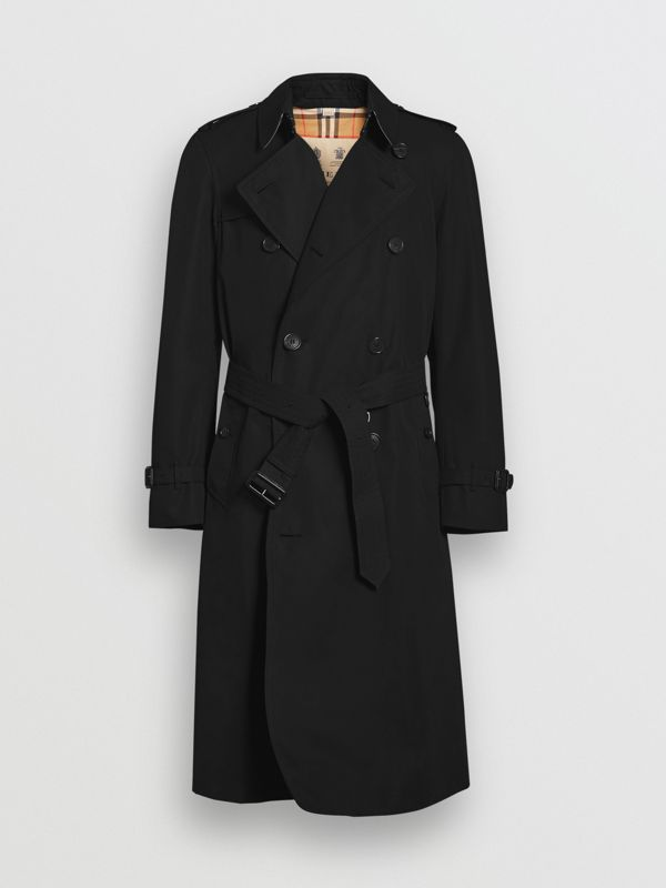 The Long Chelsea Heritage Trench Coat in Black - Men | Burberry - cell image 3