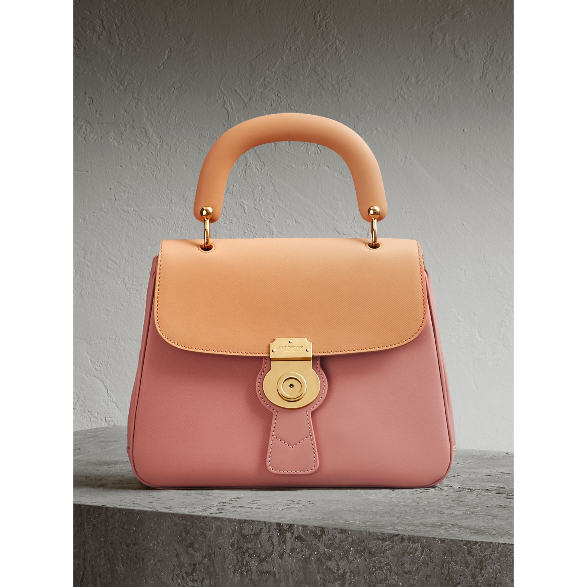 The Medium DK88 Top Handle Bag in Ash Rose/pale Clementine - Women | Burberry Singapore - gallery image 0