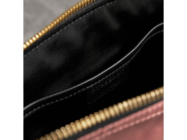 Large Zip-top Technical Nylon Pouch in Mauve Pink - Women | Burberry Australia - cell image 4