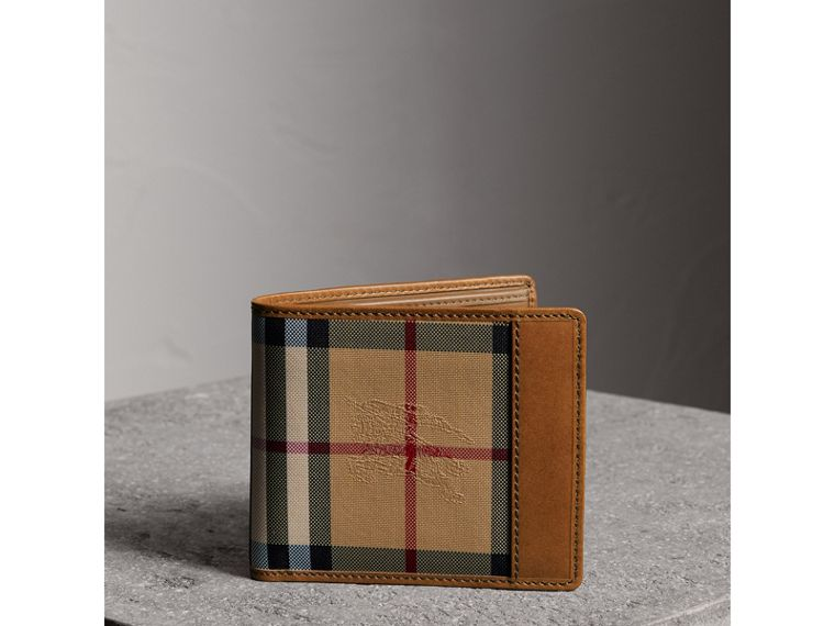 Horseferry Check International Bifold Wallet in Tan - Men | Burberry United States - cell image 4