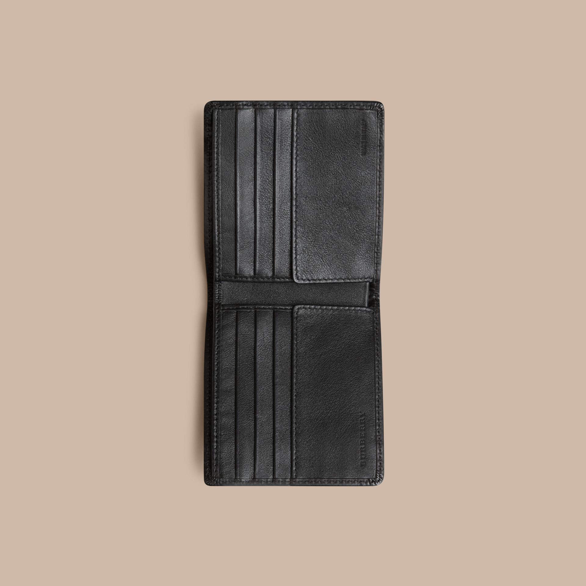 Horseferry Check International Bifold Wallet in Charcoal/black - gallery image 4