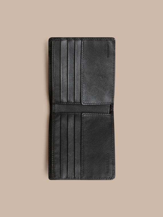 Horseferry Check International Bifold Wallet in Charcoal/black - Men | Burberry Australia - cell image 3