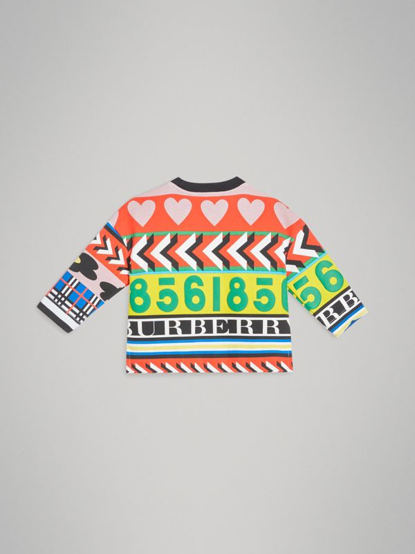 Graphic Print Jersey Sweatshirt in Multicolour | Burberry United Kingdom - cell image 3