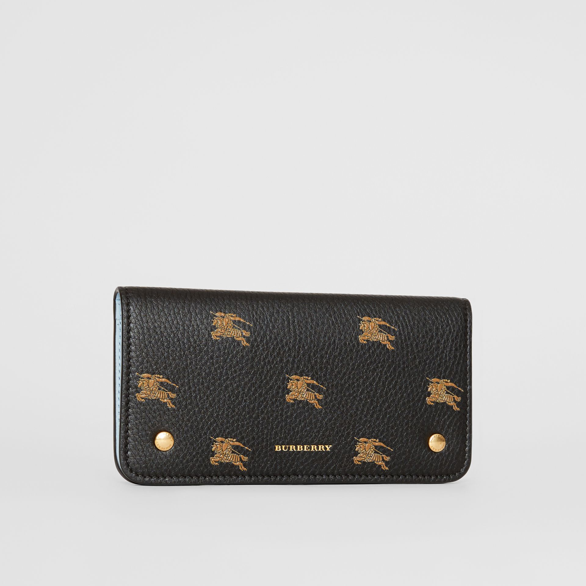 EKD Leather Phone Wallet in Black - Women | Burberry Australia - gallery image 4
