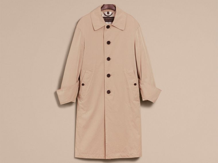 Unisex Tropical Gabardine Car Coat with Exaggerated Cuffs - cell image 4