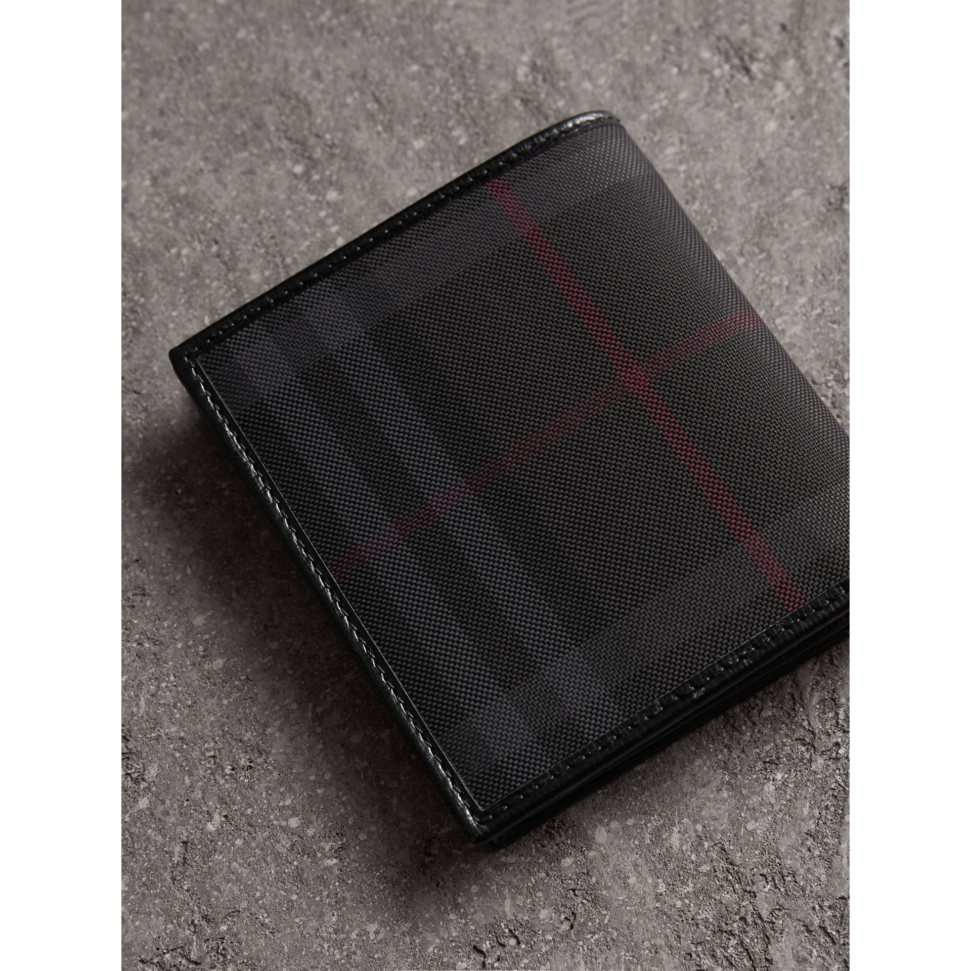 Horseferry Check ID Wallet in Charcoal/black - Men | Burberry - gallery image 3