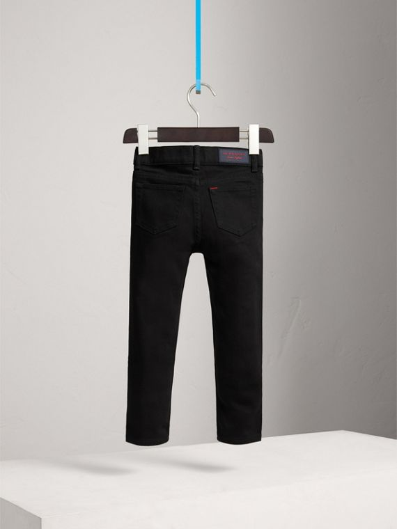 Skinny Fit Stretch Denim Jeans in Black - Boy | Burberry Singapore - cell image 3