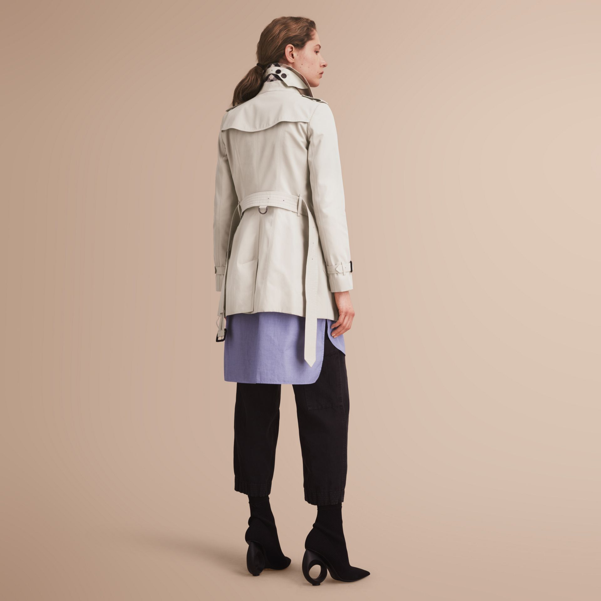 The Chelsea – Short Heritage Trench Coat in Stone - gallery image 3