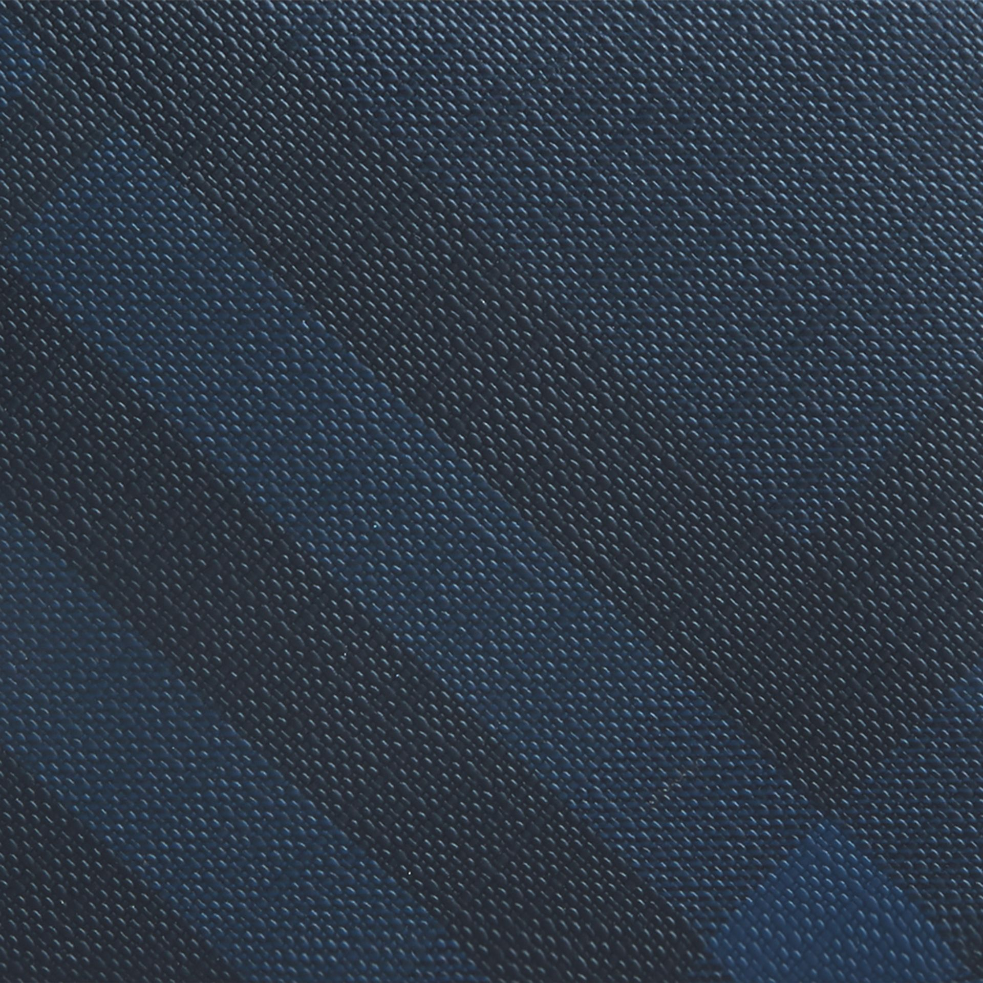 London Check ID Wallet in Navy/black - gallery image 2