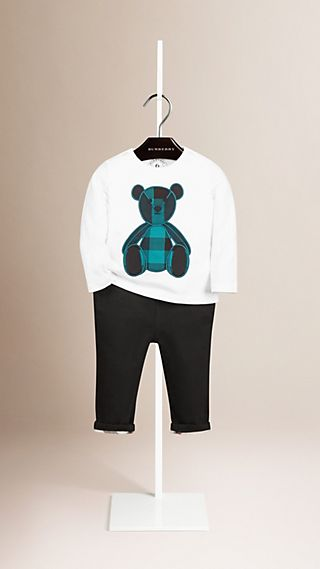 Long Sleeve Thomas Bear Print Cotton T-shirt