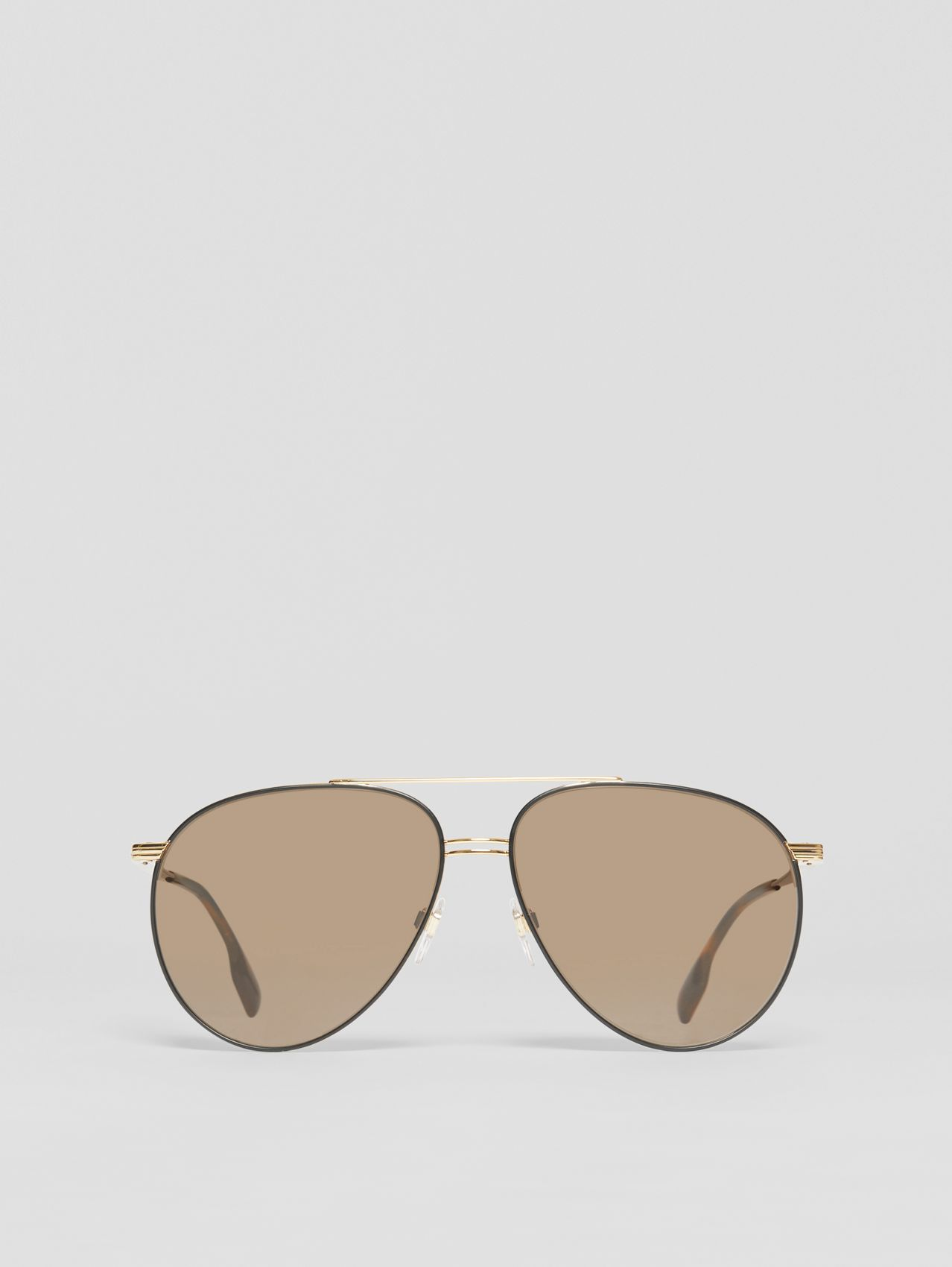 Top Bar Detail Pilot Sunglasses in Gold