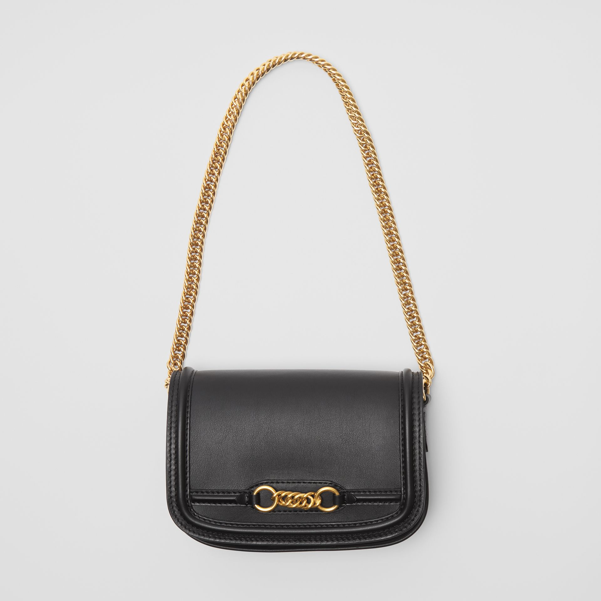 The Leather Link Bag in Black - Women | Burberry - gallery image 3