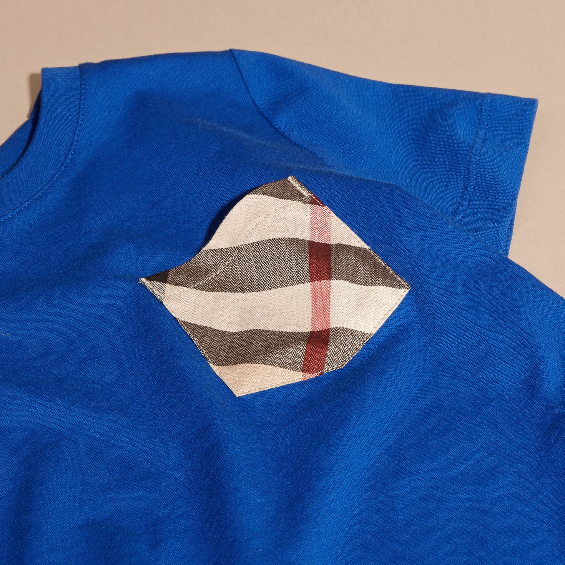 Check Pocket T-Shirt Brilliant Blue - gallery image 2