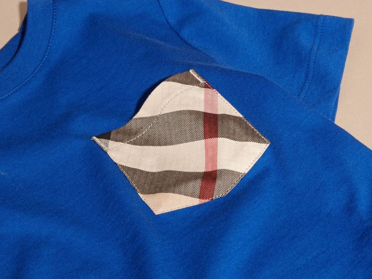 Brilliant blue Check Pocket T-Shirt Brilliant Blue - cell image 1