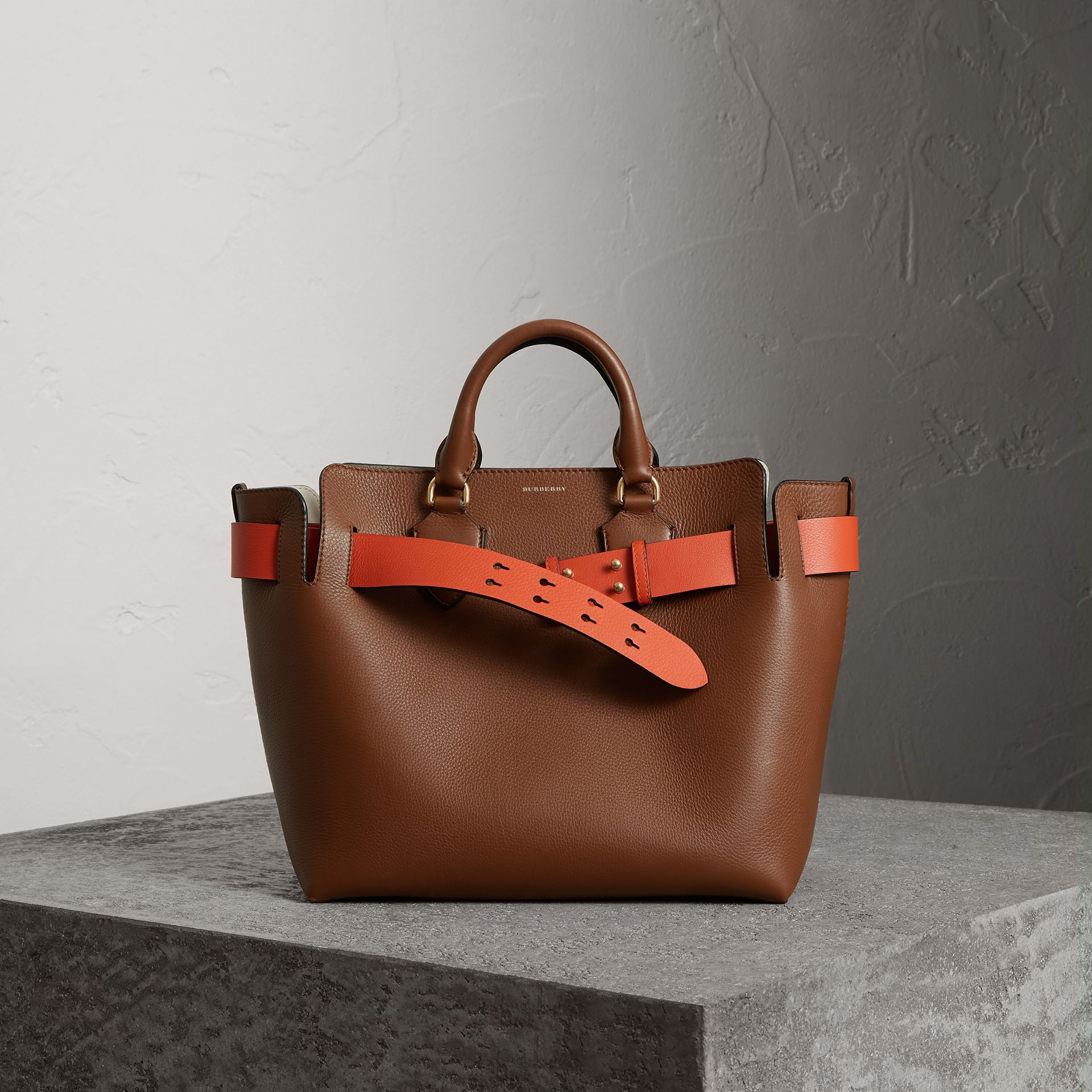 The Medium Leather Belt Bag in Tan - Women | Burberry Singapore - gallery image 0