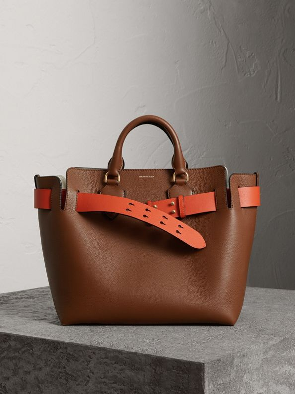 The Medium Leather Belt Bag in Tan