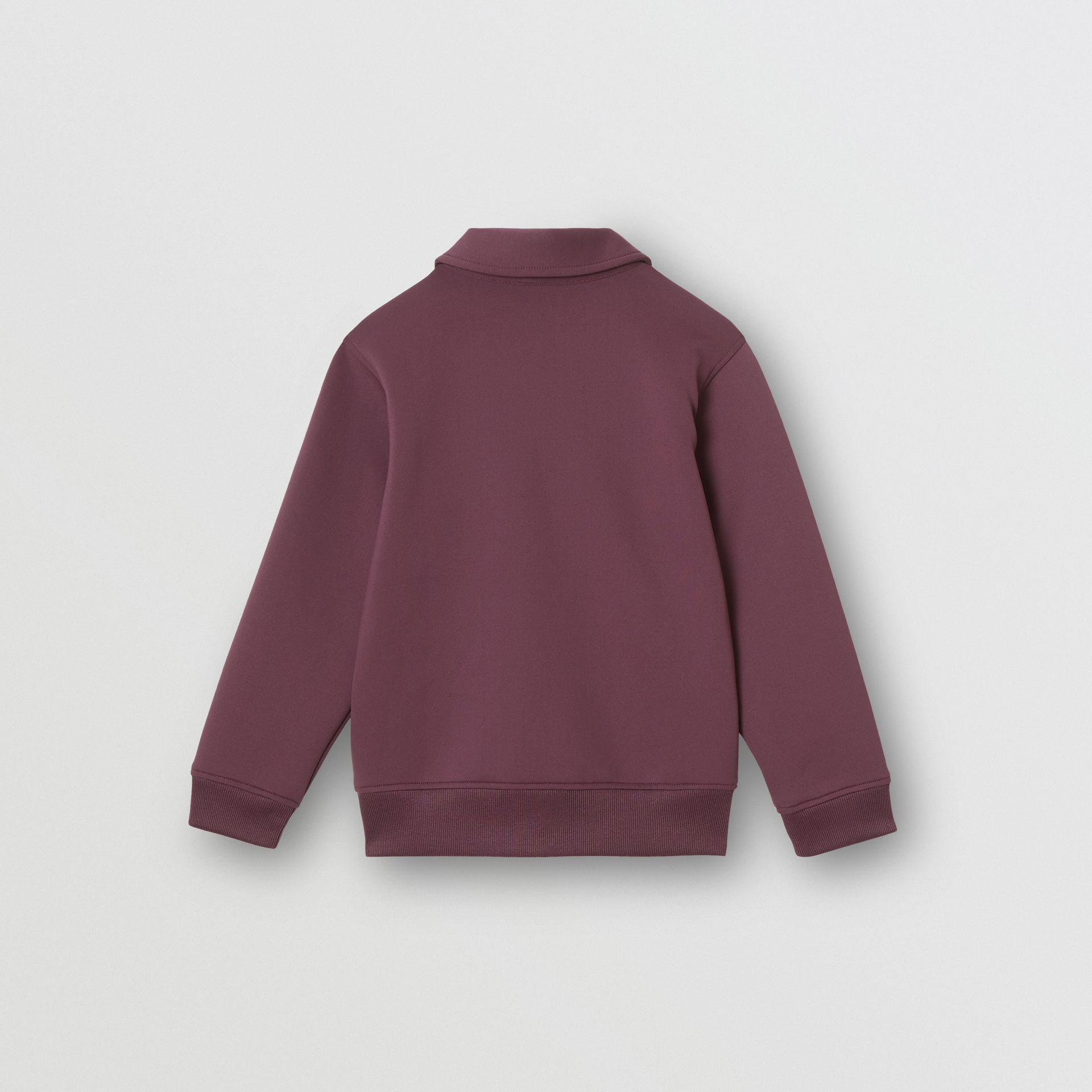 Logo Print Lightweight Track Top in Claret | Burberry United Kingdom - gallery image 4