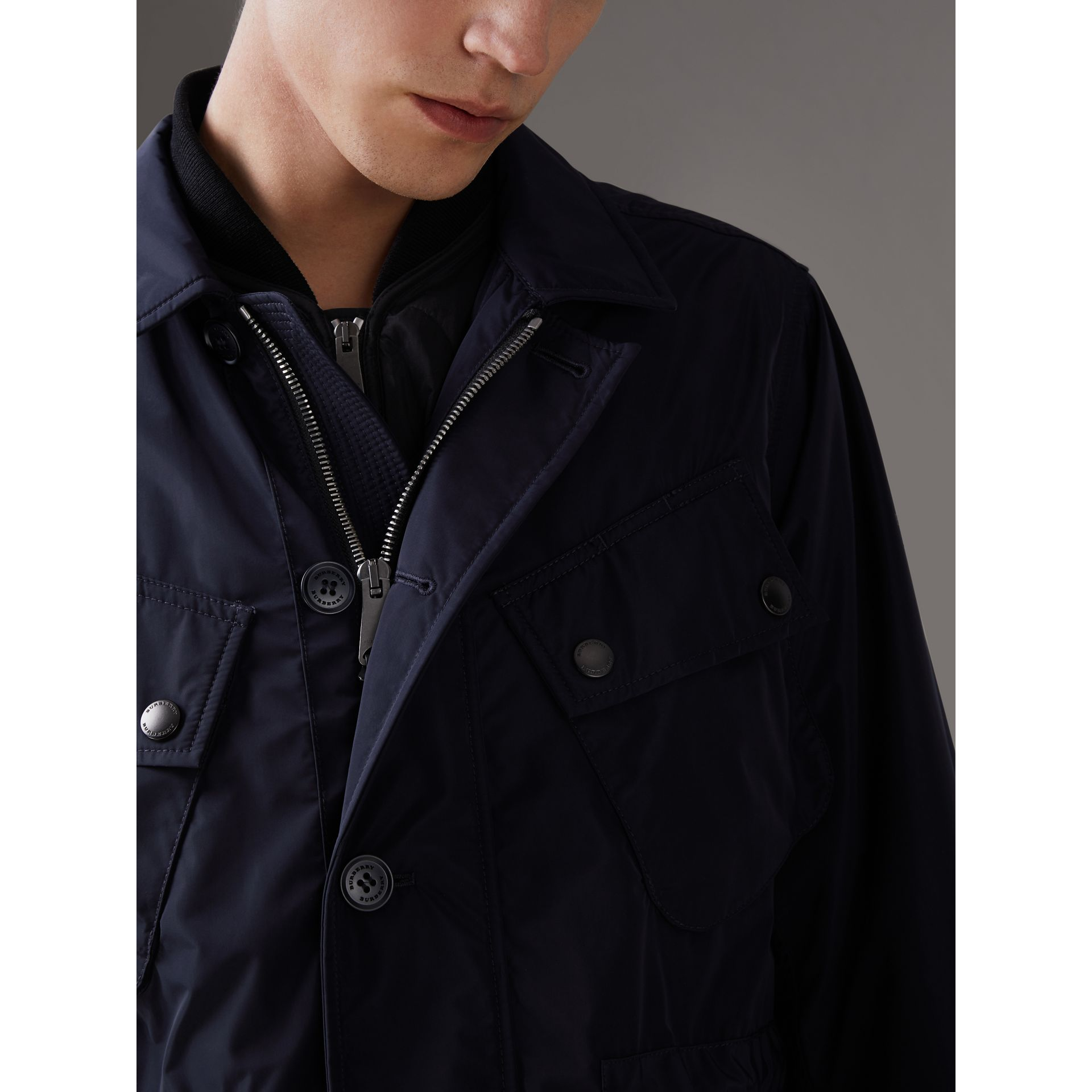 Shape-memory Taffeta Field Jacket with Warmer in Navy - Men | Burberry - gallery image 4