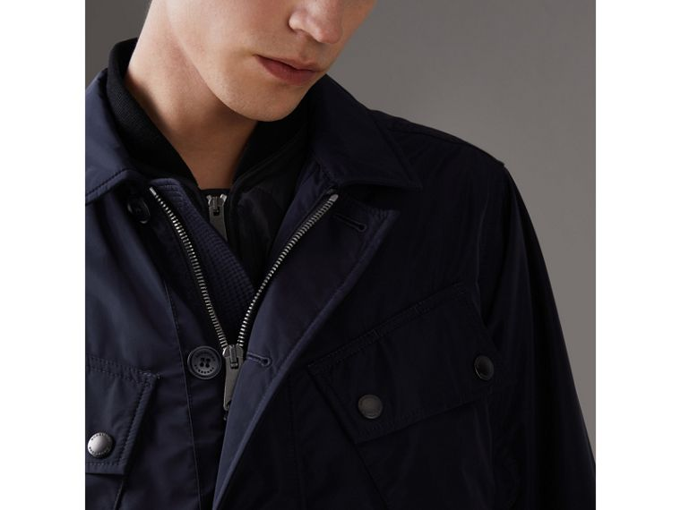 Shape-memory Taffeta Field Jacket with Warmer in Navy - Men | Burberry Singapore - cell image 4