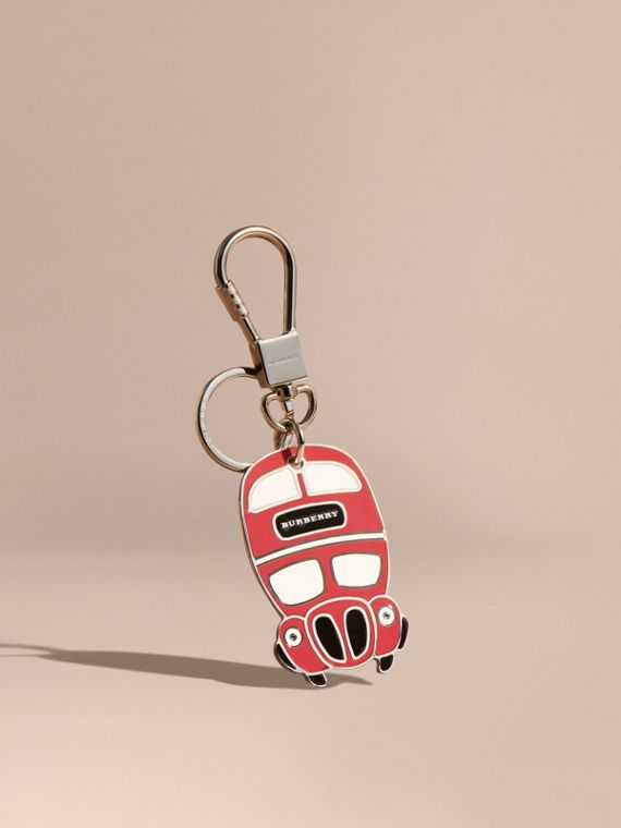 Double-decker Bus Key Charm