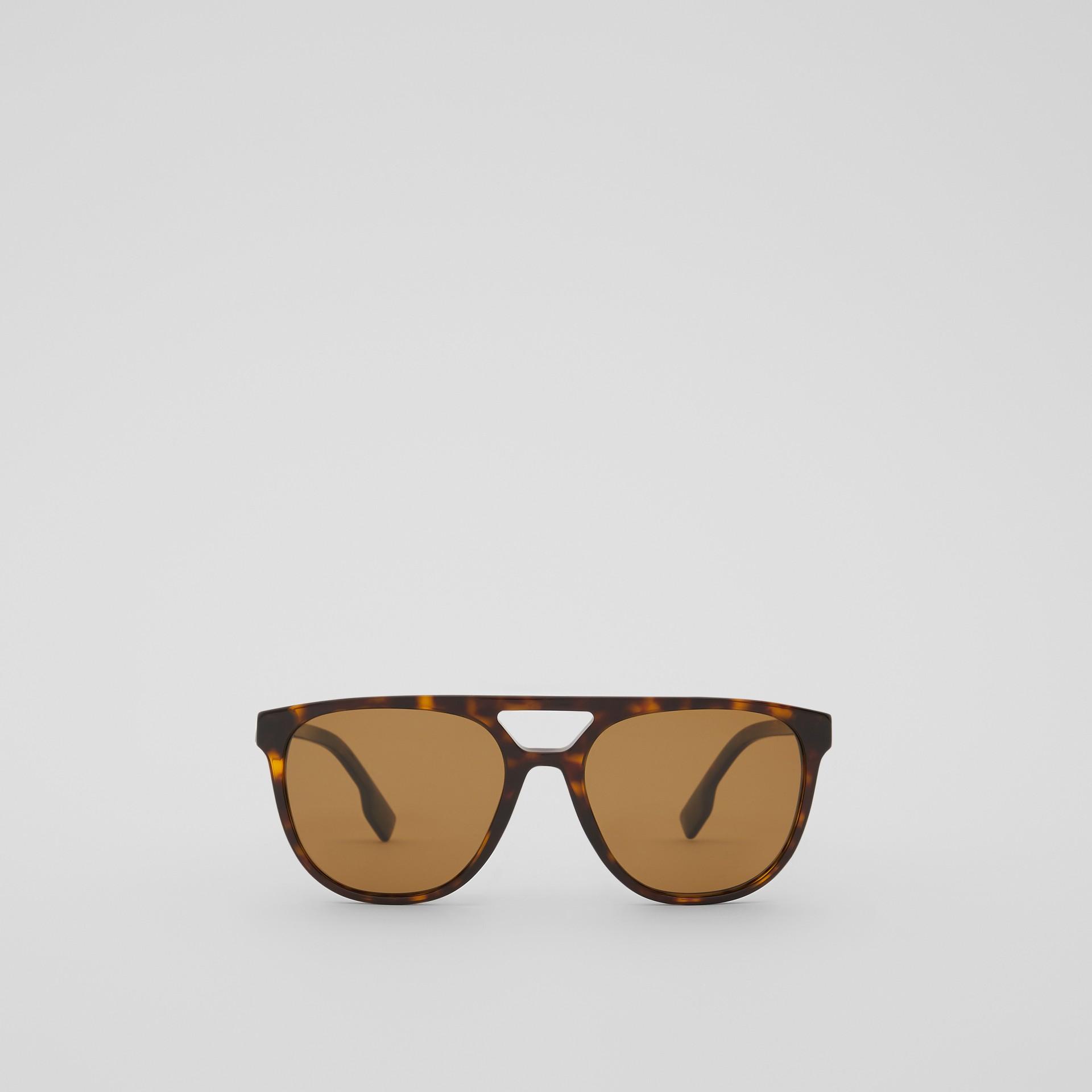 Navigator Sunglasses in Tortoiseshell - Men | Burberry - gallery image 0