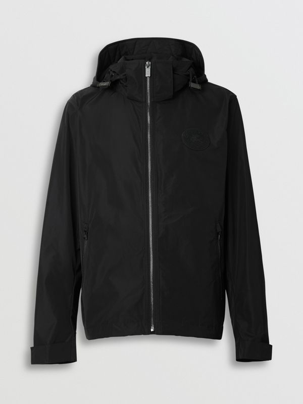 Packaway Hood Shape-memory Taffeta Jacket in Black - Men | Burberry Australia - cell image 3