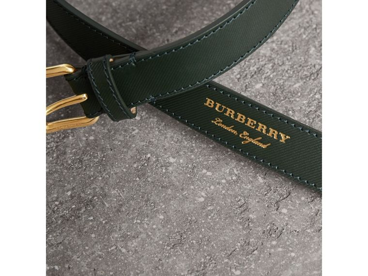 Trench Leather Belt in Dark Forest Green - Men | Burberry - cell image 1