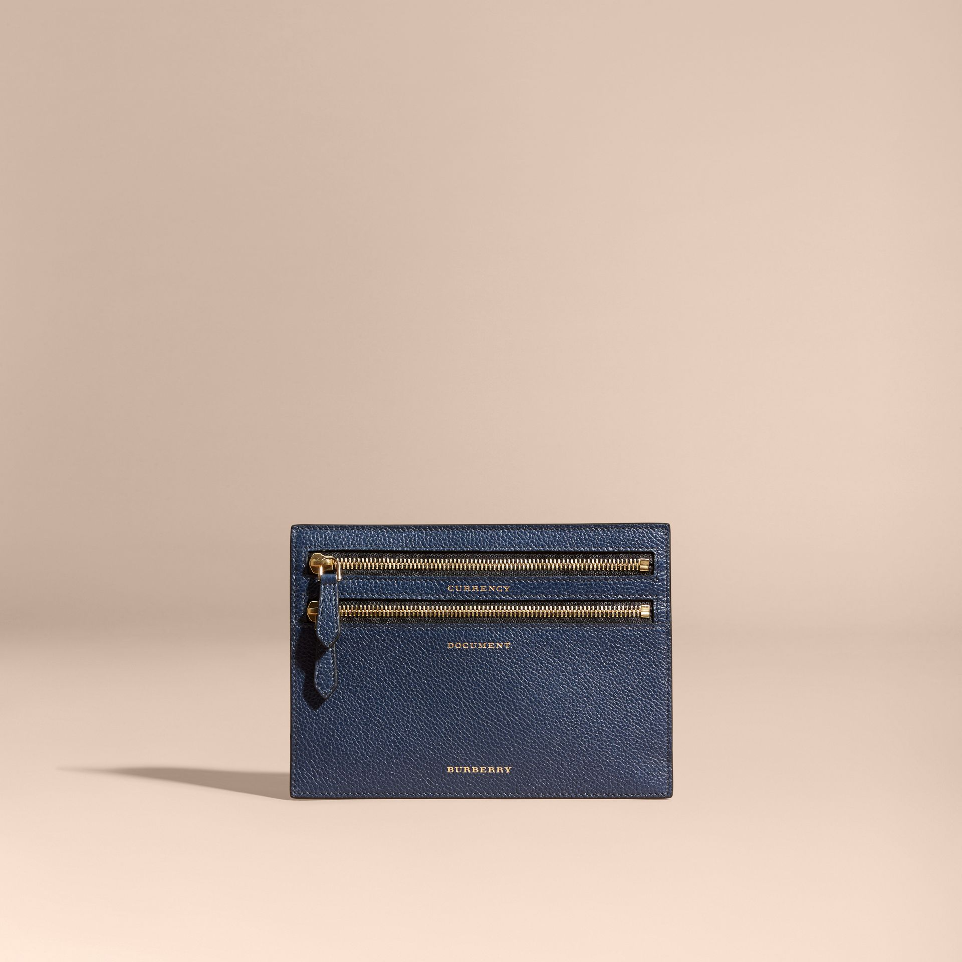 Grainy Leather Currency Wallet in Bright Navy | Burberry - gallery image 5