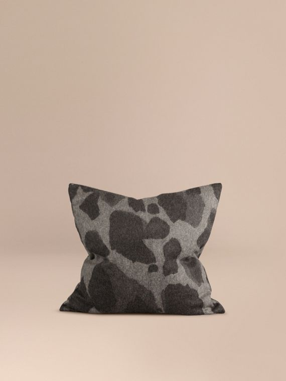 Animal Jacquard Cashmere Cushion Cover Mid Grey Print