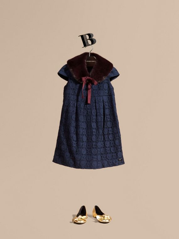 English Lace Dress Navy