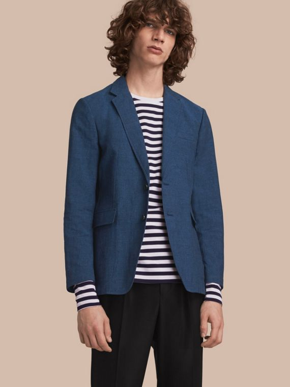 Lightweight Cotton Linen Blazer - Men | Burberry Australia