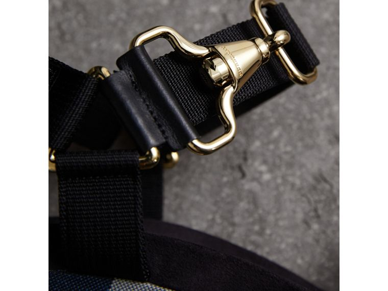 Hardware Detail Ripstop and Check Wedge Sandals - Women | Burberry - cell image 1