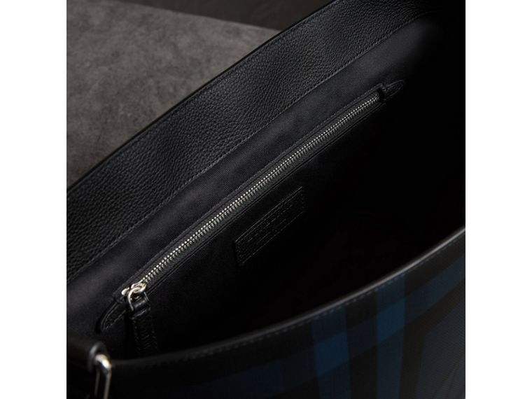 Large London Check Messenger Bag in Navy/black | Burberry - cell image 4